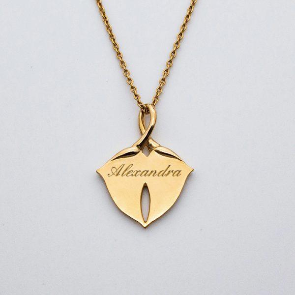 mindelion médaille fleurs art nouveau or jaune