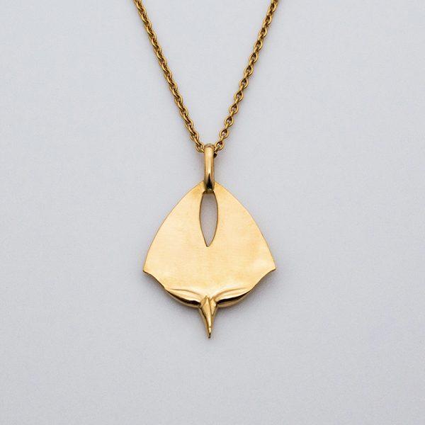 maindelion médaille fleurs art nouveau or jaune