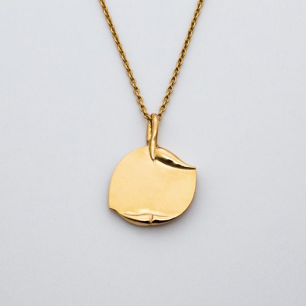 maindelion médaille bapteme fleurs art nouveau or jaune