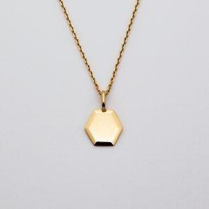 Médaille Hexagonale Biseautée