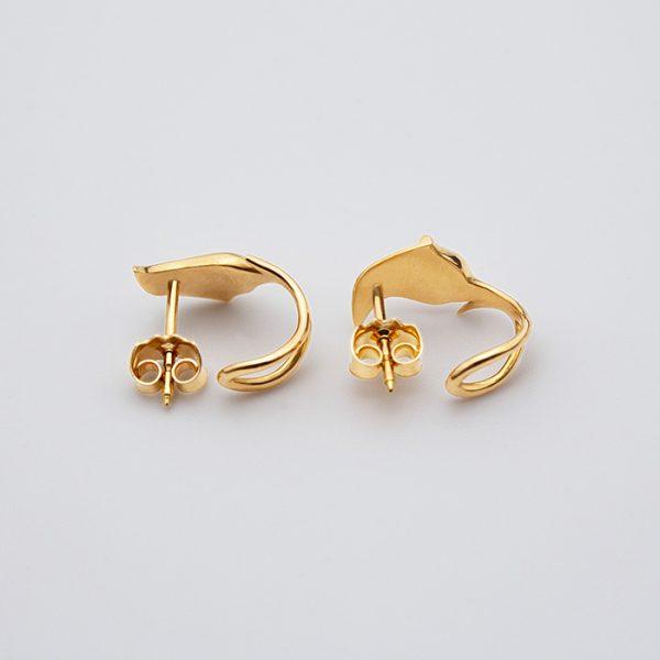 maindelion boucles d'oreilles art nouveau fleurs or jaune